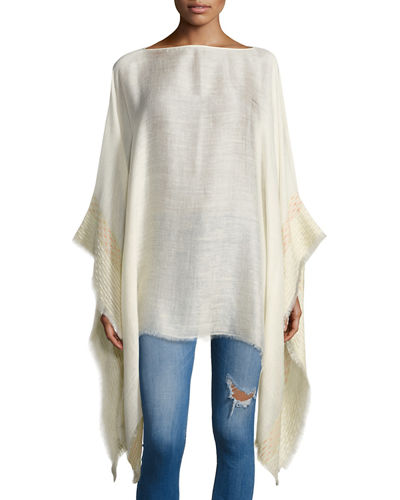 Textured Stripe Poncho