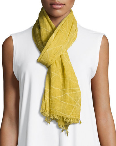 Eileen Fisher Organic Cotton Maltinto Constellation Scarf and