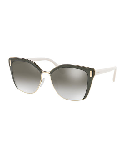 Square Mirrored Acetate Sunglasses
