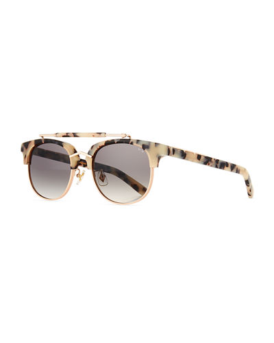 Pared Eyewear Turks & Caicos Square Semi-Rimless Sunglasses