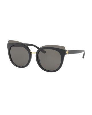 Image 1 of 2: Panama Monochromatic Cat-Eye Sunglasses