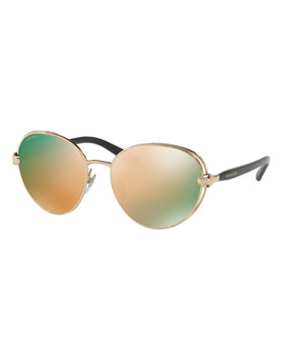 BVLGARI Serpenti Round Open-Inset Sunglasses