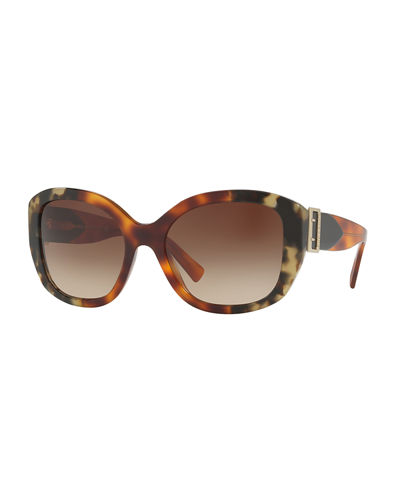 Buckle-Temple Acetate Sunglasses