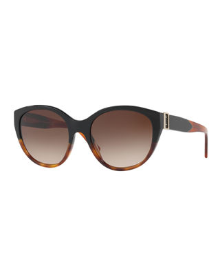 Burberry Gradient Cat-Eye Buckle Sunglasses