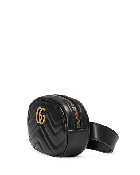 Image 2 of 3: Gucci GG Marmont Small Matelasse Leather Belt Bag