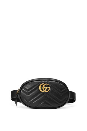 Gucci GG Marmont Small Matelasse Leather Belt Bag