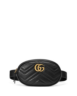 Image 1 of 3: GG Marmont Small Matelassé Leather Belt Bag