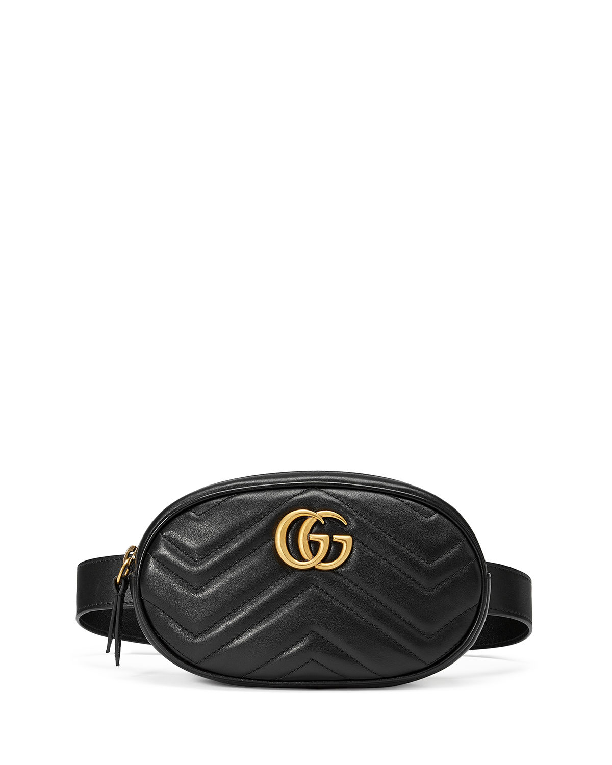 b5575352360 Gucci GG Marmont Small Matelasse Leather Belt Bag