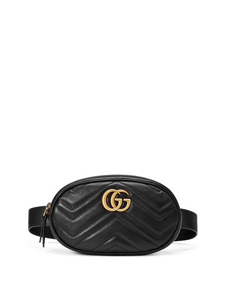 Image 1 of 3: Gucci GG Marmont Small Matelasse Leather Belt Bag