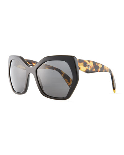 13bc4d39bf4 Quick Look. Prada · Heritage Angled Butterfly Sunglasses. Available in  Black