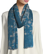Eileen Fisher Digital Pathways Silk/Wool Scarf
