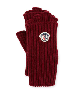 Guanti Logo Patch Fingerless Gloves
