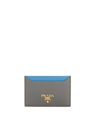 Prada Bi-Color Vitello Daino Card Case