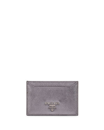 Saffiano Flat Card Case