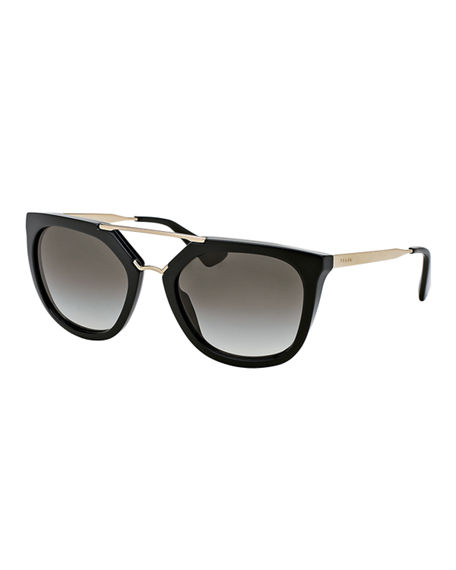 26b4abe62b9 Prada Sunglasses Cat Eye Double Bridge