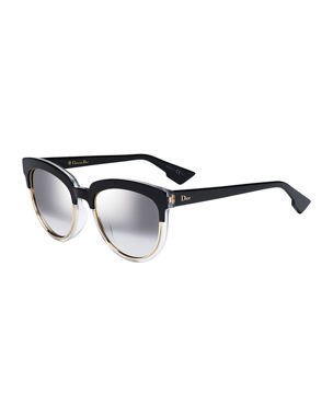 2bedc66f143 Dior Sight1 Mirrored Round Sunglasses