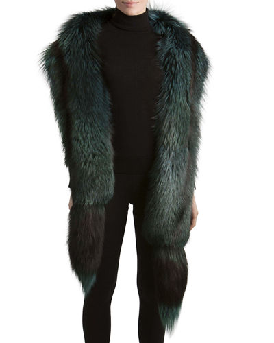 Gorski Fox Fur Boa with Detachable Tails