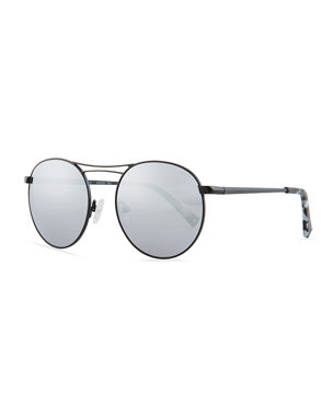 4ed9bae787f Kendall + Kylie Bella Thin Wire Round Sunglasses