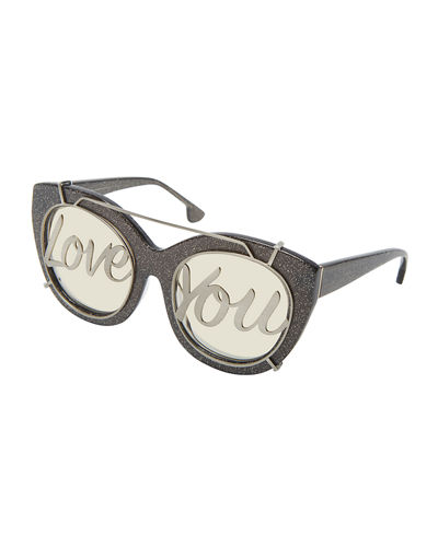 Walker Love You Cat-Eye Sunglasses