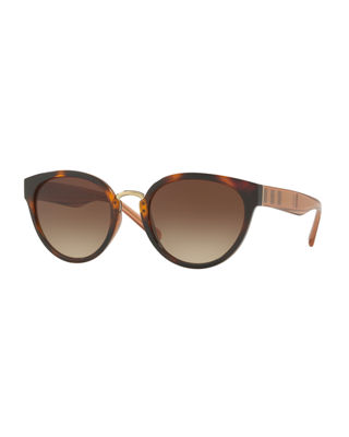 Image 1 of 2: Mirrored Cat-Eye Sunglasses