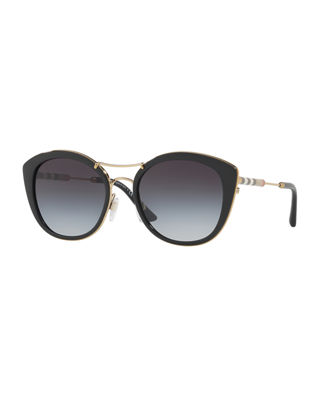 Burberry Round Sunglasses with Metal Trim