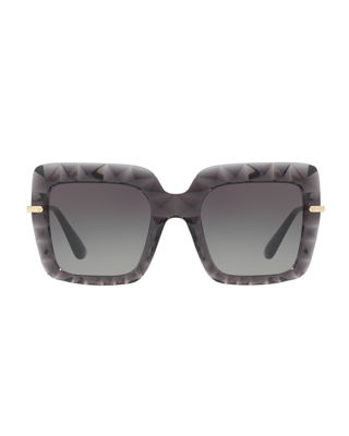 Image 3 of 4: Square Faceted Sunglasses