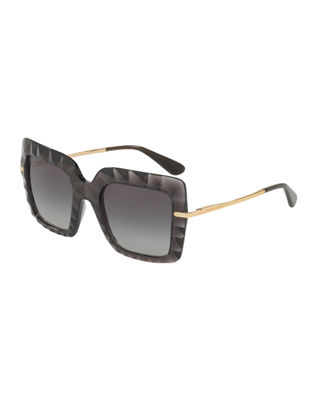 Image 1 of 4: Square Faceted Sunglasses