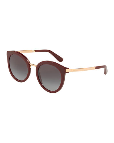 Dolce & Gabbana Rounded Mirrored Sunglasses