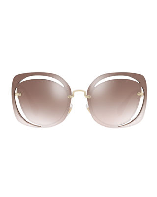 Image 2 of 2: Square Cutout Metal Sunglasses