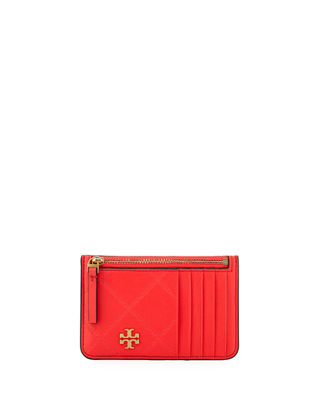 Tory Burch Georgia Quilted Zip Card Case