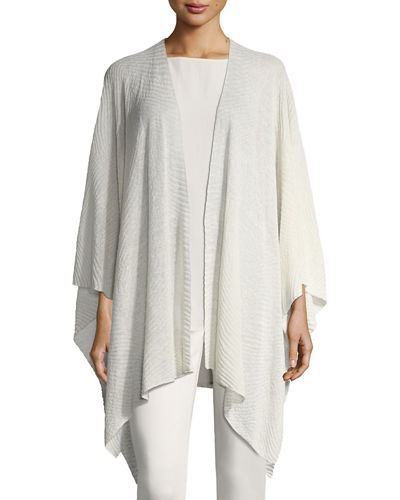 Eileen Fisher Sheer Hemp Serape, Petite