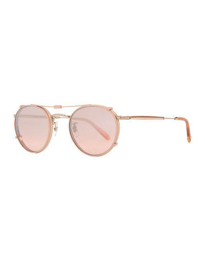 Garrett Leight Wilson Round Optical Frames w/ Sunglasses