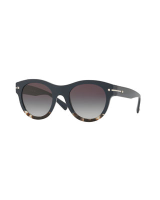 Image 1 of 2: Two-Tone Rockstud Iridescent Sunglasses