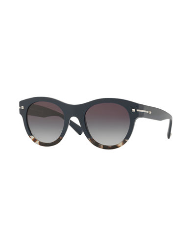 de481b8e7ad Two-Tone Rockstud Iridescent Sunglasses