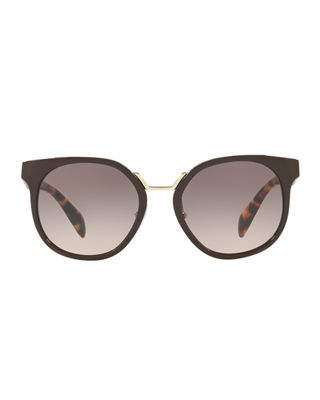 Image 2 of 2: Two-Tone Round Acetate Sunglasses
