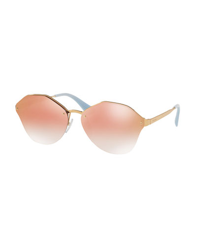 eccef97ec619 Quick Look. Prada · Mirrored Round Sunglasses. Available in Gold