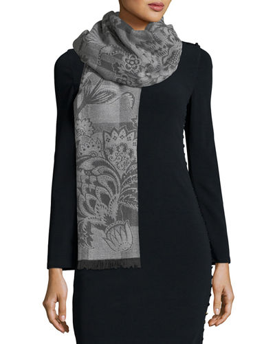 Liberty London Madelaine Check Jacquard Scarf