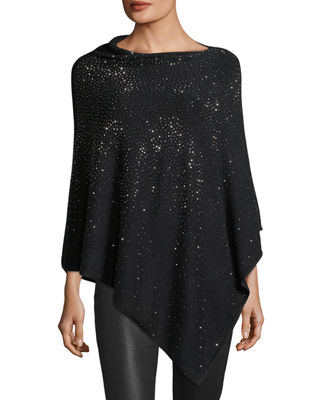 Joan Vass Studded Asymmetric Poncho, Plus Size
