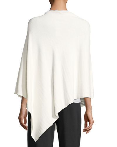 Studded Asymmetric Poncho, Plus Size