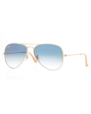 Ray-Ban Mirrored Metal Aviator Sunglasses