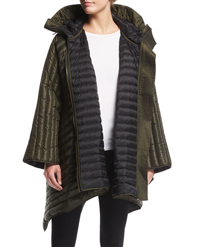 Burberry Down-Fill Cape with Hood
