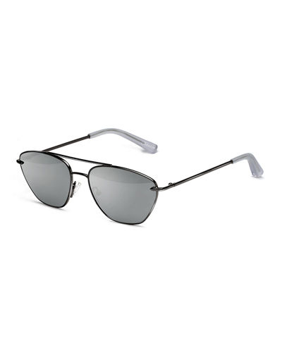 Johnson Mirrored Aviator Sunglasses