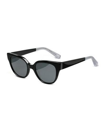 Avory Monochromatic Square Sunglasses