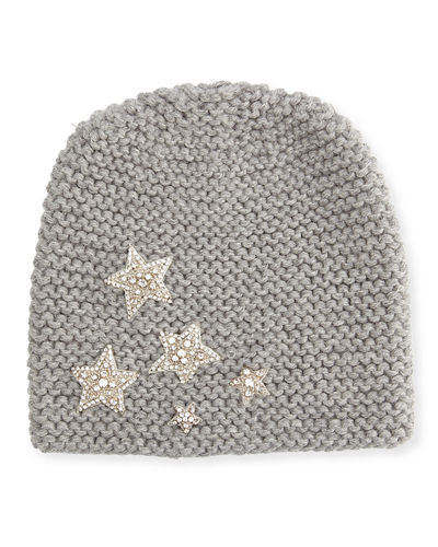 41eac6a0c43 Jennifer Behr Galaxy Beanie Hat In Medium Gray