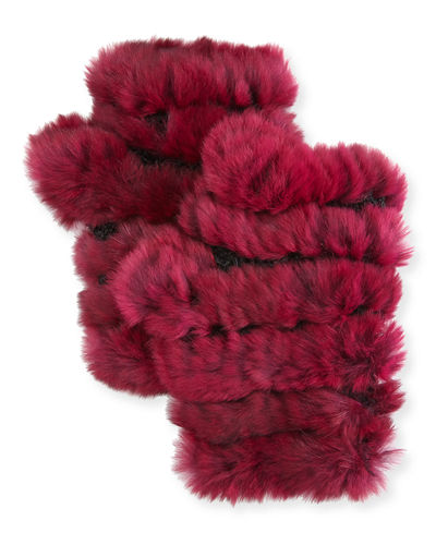 Fingerless Fur Mittens