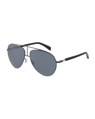 Balmain Monochromatic Aviator Sunglasses