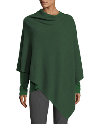 Eileen Fisher Fine Merino Links Poncho, Plus Size