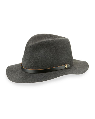Rag & Bone Abbott Packable Wool Felt Fedora Hat