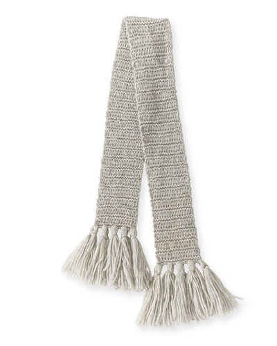 Knit Scarf w/ Long Tassels
