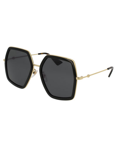 Oversized Square Web Sunglasses